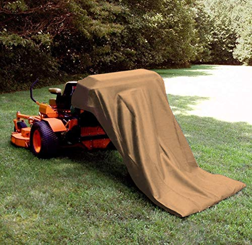 QOR Balance Extra Large Reuseable Lawn Tractor Leaf Bag,Garden Lawn Pool Garden and Leaf Trash Bags Leaves Waste Bag Compatible with Most Tractor,54 cu. ft.(Khaki)