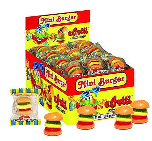 Gummi Mini Burger (Gummi Mini Cheeseburger) Wrapped 60ct