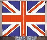Verdunkelungsvorhänge, Wärmeisolierung/Wärme im Winter, können Innenmöbel schützen & ultraviolette Strahlung reduzieren Flaggenvorhänge Klassische traditionelle Flagge britische Moderne britische