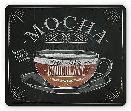 Alfombrilla de ratón de café, Taza de Moca, Chocolate Caliente Eresso, diseño...