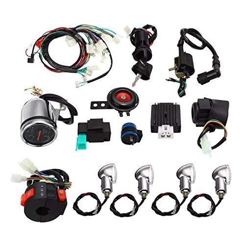 WYJBD LKYHYQ Voll E-Start-Motorkabelbaum Loom for CDI 110cc / 125cc Quad ATV Motorrad-Zubehör