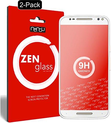 ZenGlass [2 Stück Flexible Glas-Folie kompatibel mit Motorola Moto X Style Panzerfolie I Bildschirm-Schutzfolie 9H I (Kleiner Als Das Gewölbte Bildschirm)