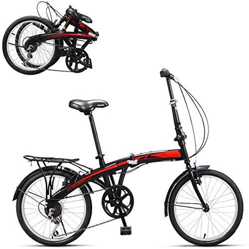 wei Bicicletas Plegables,Ultraligero Portátil Acero Carbono Scooter para Caminar,Nivel 7 Velocidades,para City Riding,Rueda De 20 Pulgadas