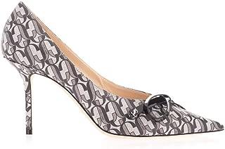 JIMMY CHOO Luxury Fashion Womens SCARLETTE85JGOSILVERBLACK Silver Pumps |