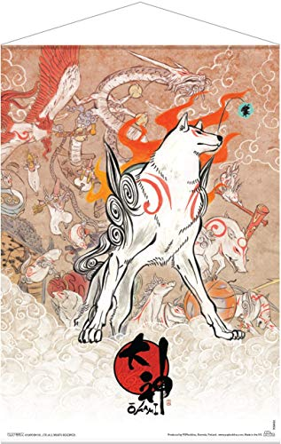 POPbuddies Okami Wallscroll Amaterasu and Celestial Brush Gods 50 x 70 cm Poster