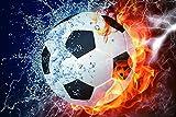 Fuego y agua efectos especiales fútbol - Niños Puzzle 500 Piezas Adultos De Madera Juego Clásico Puzzle Toys Puzzles