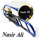 Trombone Bb Pitch With Free Hardcase and Mouthpiece by Nasir Ali (BLUE + BLACK)