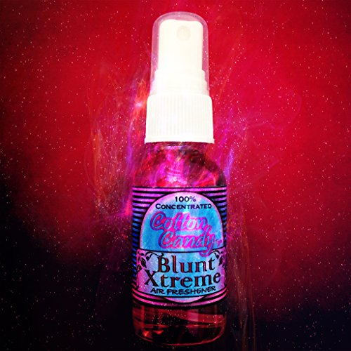 Blunt Xtreme Fluffy Cotton Candy Type Air Freshener - 100% Ultra Concentrated Oil Based Spray - Ideal for Home, Bath, Car, Office & More - Smokers' 1st Choice - Long Lasting Effects - 1oz Bottle