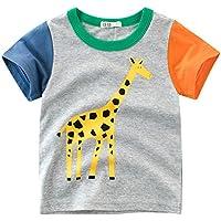 Oyoden Camisetas Manga Corta Niños Dibujos Animados Tops Bebé Verano Algodón Blusa 1-8 Años