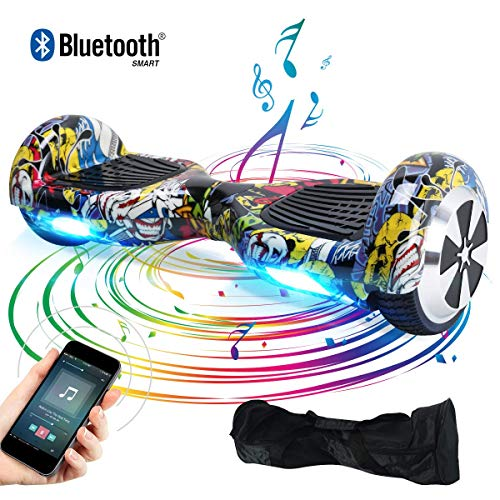 """BEBK Hoverboard 6.5"""" Smart Self Balance Scooter con Bluetooth, Overboard con LED, 2 * 250W Motore"""