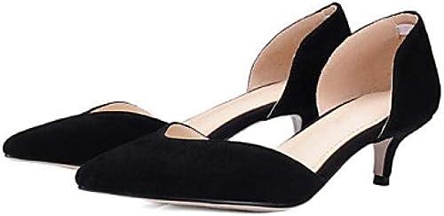 Weier. Ben Ben Chaussures Confort Femme Talons Bas en Microfibre gris Rouge Bleu Mariage@Noir_US10.5   EU42   UK8.5   CN43  sortie d'exportation