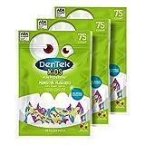 DenTek Kids Fun Flossers, Limited Edition Monster Flossers, 75 Count, 3 Pack (Packaging May Vary)