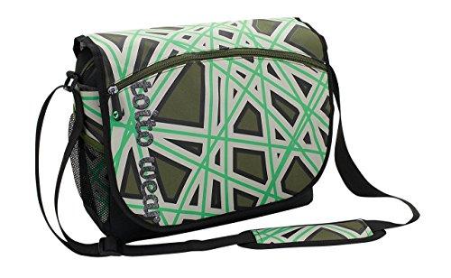 toito wear, Schultertasche, HxLxB: 30x37x11 cm, ca. 11,8 Liter, Razor, Weiß/Blau, 56093-7