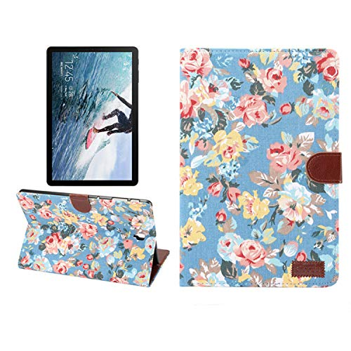 INSOLKIDON Compatible with Samsung Galaxy Tab S4 10.5 Inch T830 T835 T837 SM-835 Case Tablet Litchi PU Leather Support Stand Smart Cover Protection Bracket Leather Case (2)
