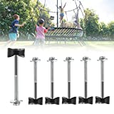 6 Pack Trampoline Accessories Steel Trampoline Screws to fix The Trampoline Stability Tool Set Safety Trampoline Replacement Parts Bolts and Nuts for Most Large and Small Trampolines