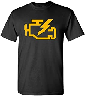 Check Engine Light Mechanic auto Repair - Mens Cotton T-Shirt