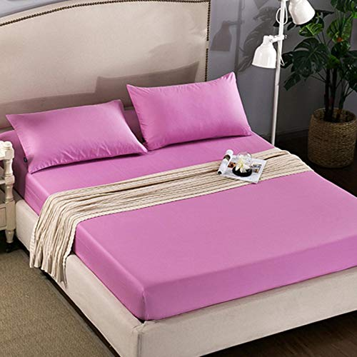 TIANCI Pure 24 Colors Solid Fitted Bedsheet Cotton Polyester Fitted Sheet Pure Colored Fitted Bed Sheets,CL001-03,150X200X20CM