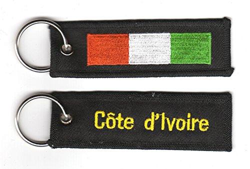 Schlüsselanhänger Elfenbeinküste Anhänger Fahne Flagge FLAGGENMAE®