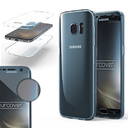 Urcover® TPU Ultra Slim 360 Grad Hülle kompatibel mit Samsung Galaxy S7 Schutzhülle Handyhülle Case Cover Etui Blau