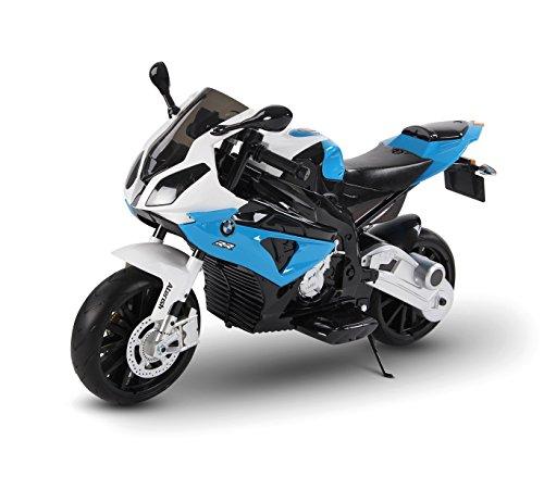Moto elettrica Azzurra LT832 per Bambini BMW Sedile in Pelle accensione con Chiave. Media Wave Store