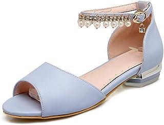 BalaMasa Womens ASL06371 Pu Block Heels