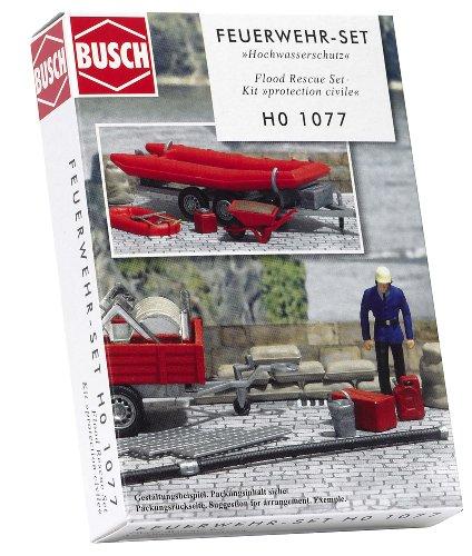 Busch 1077 - Feuerwehr-Set Hochwasserschutz