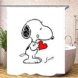 Fgolphd Snoopy Duschvorhang 120x200 180x200180x180 200x240 Textil Bunt Pink Blau?Shower CurtainsWasserdicht Dekorieren Sie Ihr Badezimmer (18,120 x 200 cm)