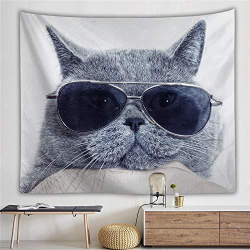 Katten vrouw mode Boho Tapestry mooie Wall Art wandtapijten strand gooien handdoek Yoga Mat Mandala Hippie_150X130CM