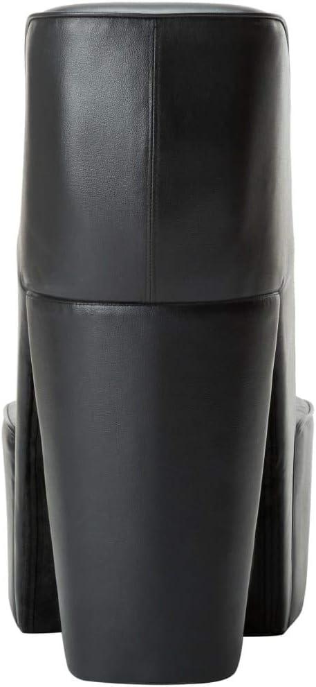 Tidyard Chaisea avec Pi/ètement en Forme de Chaussure /à Talon Haut Ergonomie Noir Similicuir