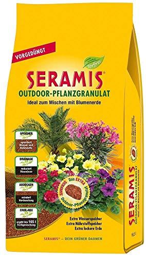 Seramis Ton-Granulat für alle Balkon- und Kübelpflanzen, Vorgedüngt, Outdoor-Pflanzgranulat, Ton-Farbe, 16,5 Liter