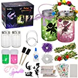 tomser Fairy Lantern Craft Kit, Unique Color DIY Fairy Jar Night Lights Craft Princess Fairy Lantern Jars Arts and Crafts for Kids Mason Jar Fairy Lantern as Party Bedroom Garden Light & Present