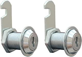 VictorsHome Cam Lock for Cabinet Drawer - 1 Inch (25mm) Cylinder Length, Fits for 3/4 Inch Max. Panel Thickness, Chrome Finish, Keyed Alike, 2 Pack