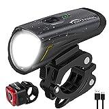 toptrek Fahrradlicht Set, LED Fahrradbeleuchtung Set akku USB Wiederaufladbare...