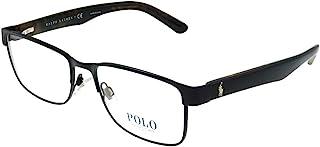 PH 1157 9038 Matte Black Metal Rectangle Eyeglasses 53mm