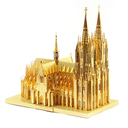 GJQASW 3D-Puzzle, Kölner Dom BAU-Bastelset Kinder Spielzeug für Erwachsene 3D-Puzzle-Geschenke Speichern dauerhafte Dekorationen