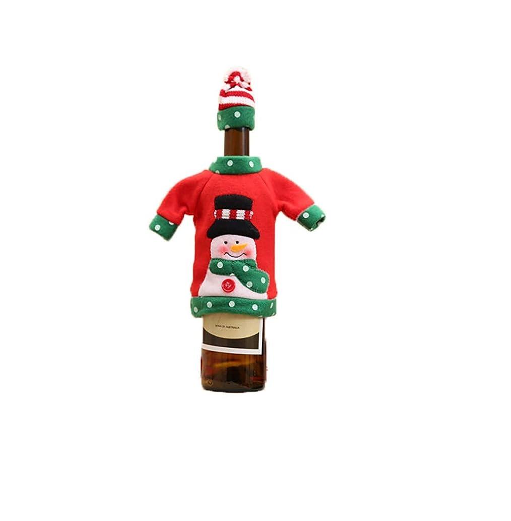 ほぼモルヒネホップLSOPX -newクリスマスワインボトルセットクリスマスの刺繍漫画のワインボトルは、テーブルのホテルレストラン休日の装飾用品飾りダイニングクリスマスの日に設定しました DIY (款式 : Snowman)