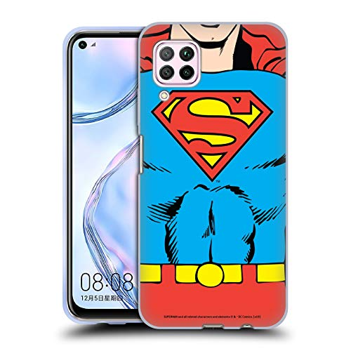 Head Case Designs Oficial Superman DC Comics Disfraz clsico Logotipos Carcasa de Gel de Silicona Compatible con Huawei Nova 6 SE / P40 Lite