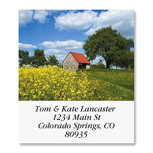 Farmscapes Self-Adhesive, Flat-Sheet Select Address Labels (12 Designs)