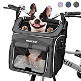 BARKBAY Dog Bike Basket Carrier, Expandable Foldable Soft-Sided Dog Carrier, 2...
