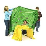 Crazyfly Kit de construction de cabane pour enfants, kit de construction de fort, tige de liaison, sphères et tente pour enfants garçons et filles