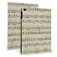 SORA ヴィンテージ 楽譜 iPad Air 2 ケース iPad Air ケース 手帳型 オートスリープ機能付き iPad Air/iPad Air 2 保護カバー ペンホルダー付き 強化ガラス液晶保護フィルム付き