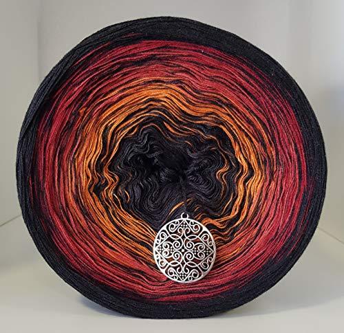 LiLu´s Märchengarne (69,00€/kg) Farbverlaufsgarn Herbstlaub 400g - 1520m 4 fädig Bobbel Wolle handstrickgarn