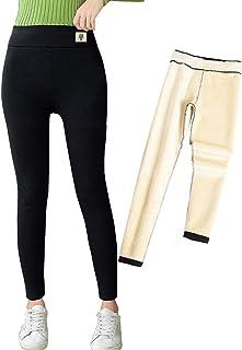 niyokki High Waisted Cashmere Leggings for Women, Thick Warm Fleece Lined Leggings Tummy Control Fleece Pants Tights