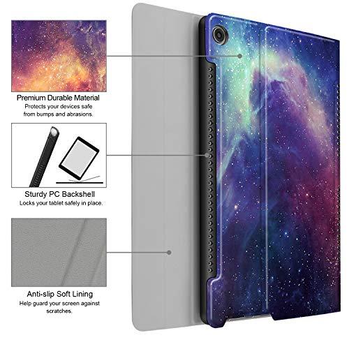 Fintie Huawei Mediapad M5 10.8/10.8 Pro QWERTZ Bluetooth Tastatur Hülle - Ständer Schutzhülle mit Magnetisch Abnehmbarer Drahtloser Deutscher Bluetooth Tastatur für Huawei M5 10,8 Zoll, Die Galaxie - 5