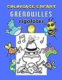 Coloriage enfant grenouilles rigolotes: Livre de coloriage grenouille pour enfant | 30 grands dessins amusants de grenouilles à colorier