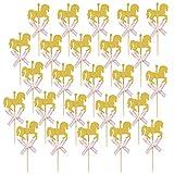 Wenxiaw Decoracion Tarta Caballo Decoracion para Tartas Infantiles para Fiesta De Cumpleaños de Baby Shower para Niños Decoración de la Torta de Cumpleaños Decoración de Fiesta de Bodas (Rosado)