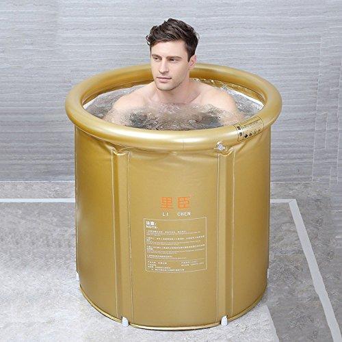 YANLIN - Bañera de baño portátil y Plegable - Temperatura de Mantenimiento - Bañera de hidromasaje - Cabina de Ducha - Espuma térmica espesante
