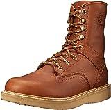 Georgia Boot Men's 8 Inch Wedge Work Shoe, Barracuda Gold, 9.5 M US