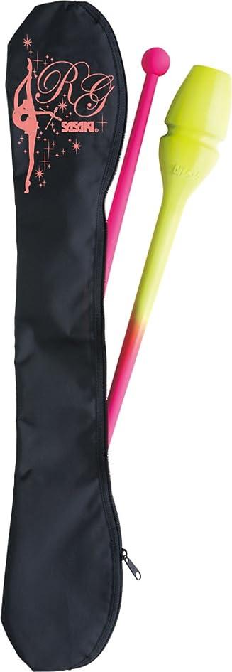 メガロポリス干し草先ササキ(SASAKI) 新体操 手具ケース R.G.ガール クラブケース ブラック×アプリコット AC-53