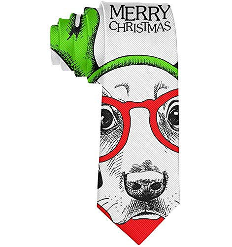 Männer Casual Party Krawatten, Business Meeting Hochzeitsanzug Krawatte, Cartoon Sonnenbrille Hund mit Hirschhorn Krawatte